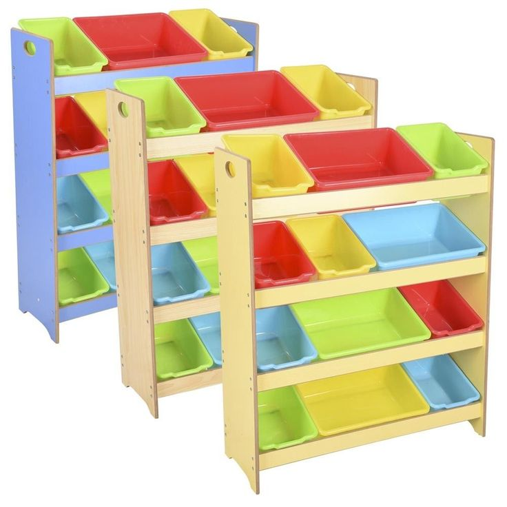 Toy Bin Organizer Kids Childrens Storage Box Playroom Bedroom Shelf Drawer #AplusChoice