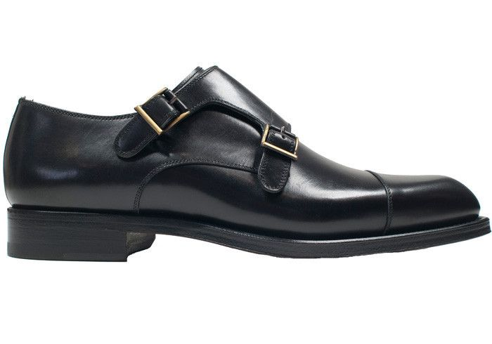 Howard Yount Black Double Monk Strap. Black Double Monk Strap  Black calfskin. Made in Spain. $349.