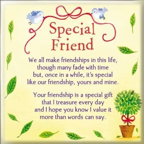 Special Friend, We All Make Friendships In This Life