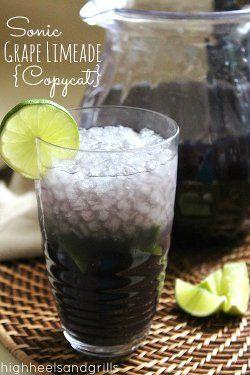 Copycat Sonic Grape Limeade | AllFreeCopycatRecipes.com