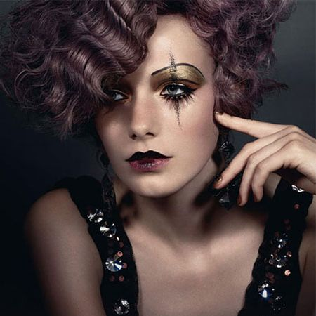 Lovely evening semi-goth makeup look #makeup