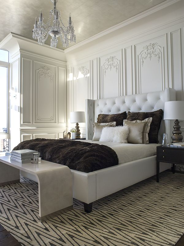 Classic master bedroom with modern details. http://masterbedroomideas.eu/