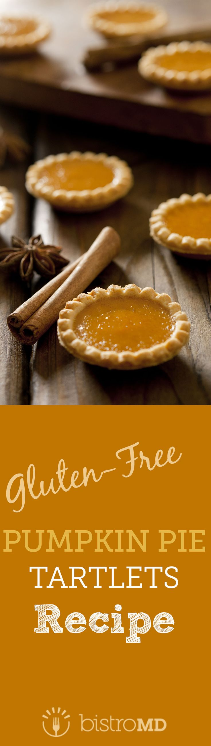 BistroMD's chefs have created pumpkin pie tartlets for you to enjoy without the guilt. Enjoy our mini pumpkin pie tarts with a minimal-ingredient crust and filling this holiday season using simple ingredients. These Pumpkin Pie Tarts not only taste delicious but are also gluten-free, using heart healthy almond flour as the main crust ingredient.