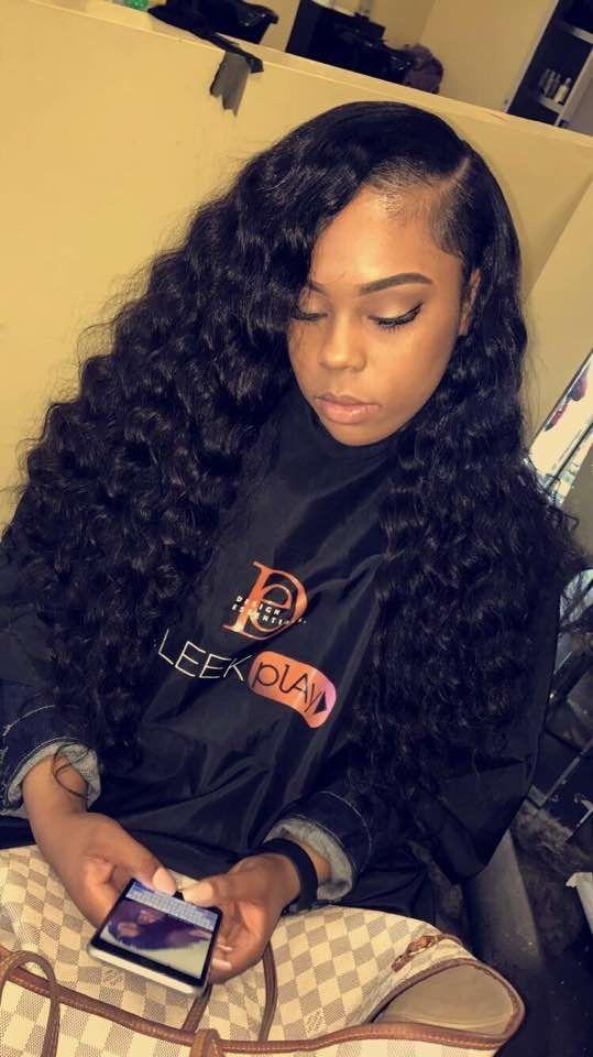 classic lace wigs Brazilian Virgin deep wave Weft 3 Bundles 100% Unprocessed Human Hair
