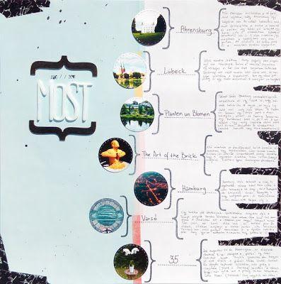 Kő, papír, satöbbi: Most, scrapbook layout with 7 photos