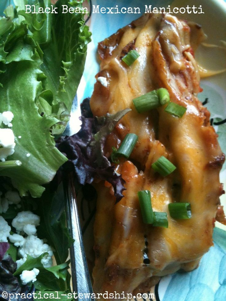 Crock-Pot or Not Mexican Manicotti with Black Beans