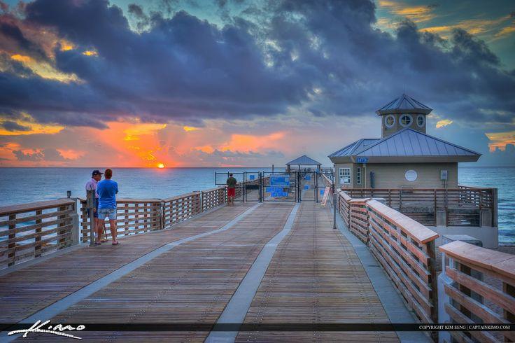 Watching Sunrise at the Juno Beach Pier