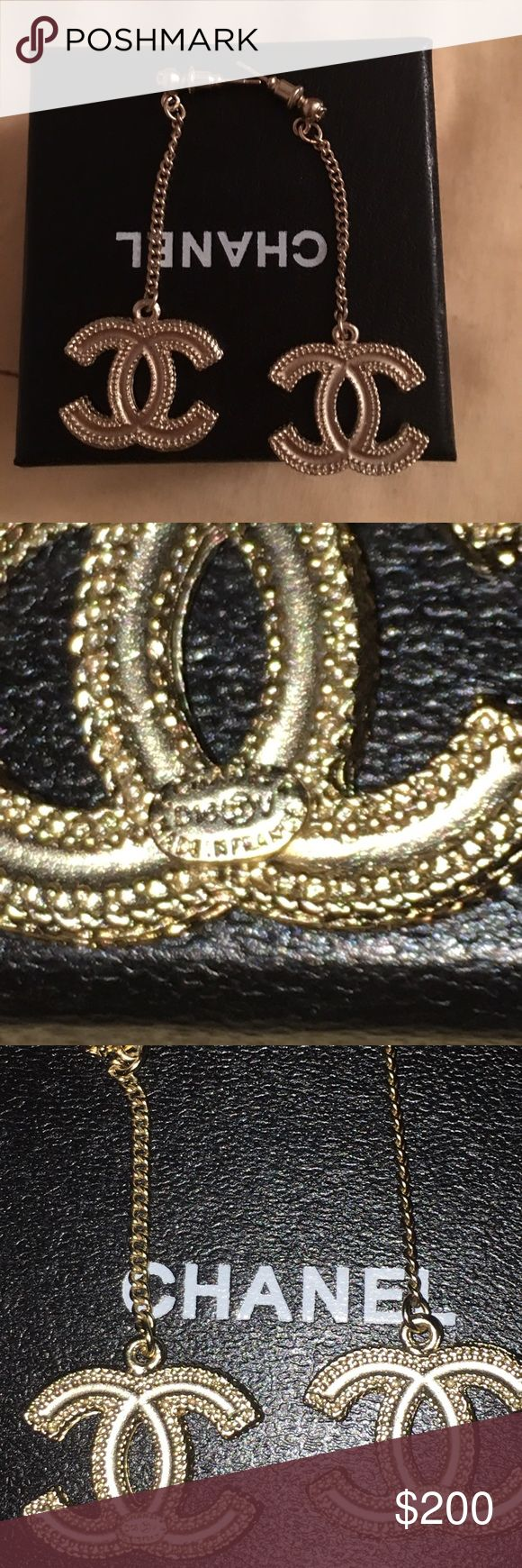Authentic Chanel Earring Authentic Chanel Earring in great condition. Have stamp on the back. Made in Frace. It comes in box but no dust bag . Thanks for looking!price is firm CHANEL Jewelry Earrings