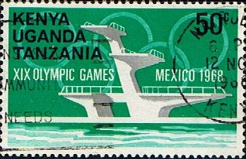 Postage Stamps Kenya Uganda Tanzania 1968 Olympic Games SG 253 Fine Used Scott 190 Other KUT Stamps HERE