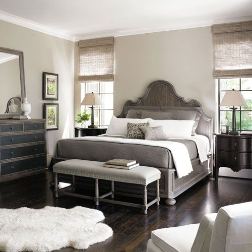 Bernhardt | Belgian Oak King Panel Bed Love the colors of this room. So relaxing. Floor color is excellent