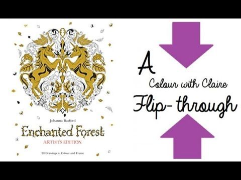 Enchanted Forest Artists Edition Colouring Book
