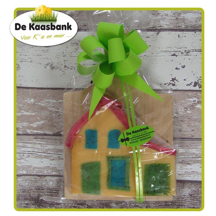 Vandaag een leuk pakket gemaakt voor een klant met daarin een huis van kaas :)