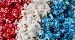 Patriotic Popcorn--the perfect Fourth of July treat!