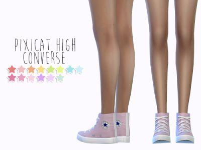 My Sims 4 Blog: High Converse Recolors by SensFelipa