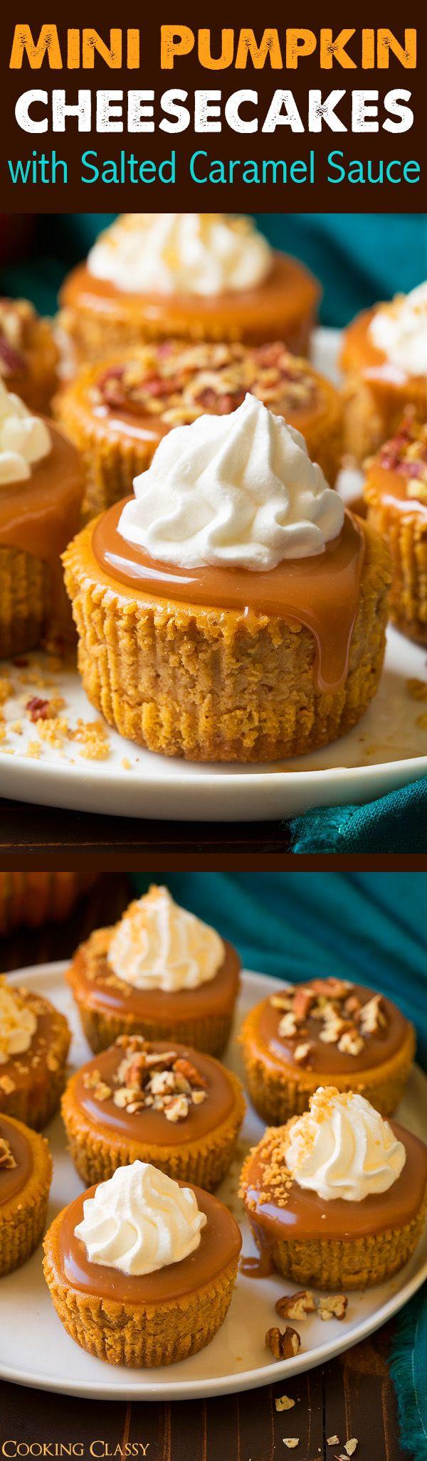 Mini Pumpkin Cheesecakes - An all time favorite fall recipe!