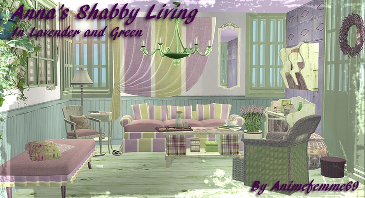 Animefemme - Anna's Shabby Living in Lavender and Green