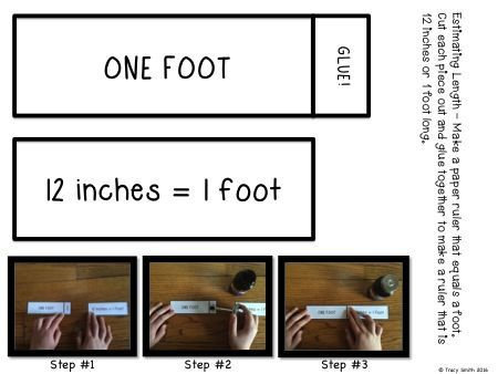 Make your own ruler/meter sticks!  One of the fun activities to use in from this packet to teach estimation and measuring length!