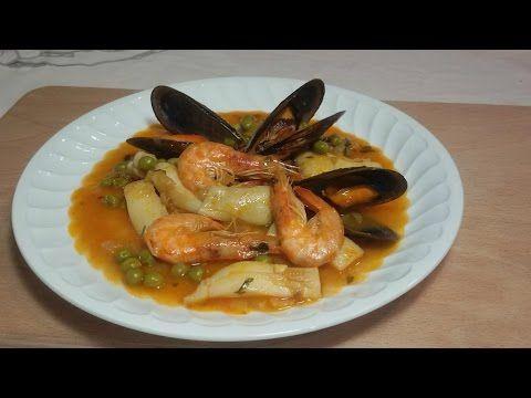 Sepia a la marinera con marisco - Cocina familiar | Cocina familiar