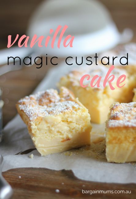 This VANILLA MAGIC CUSTARD CAKE magically separates into 3 layers when baked…