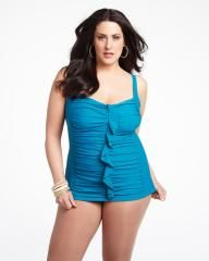 frill front swimdress | Shop Online at Addition Elle