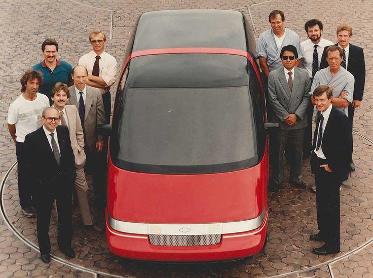 OG |1990 Chevrolet Lumina APV / Oldsmobile Silhouette / Pontiac Trans Sport | Full-size fiberglass model with the studio team
