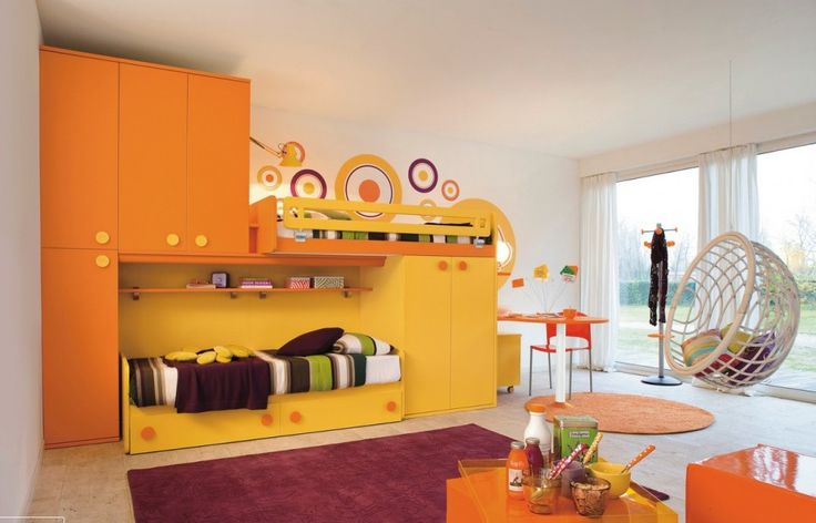 Kids Room : Yellow Orange Kids Room Modern Kid's Bedroom Design Ideas Kid Rooms Tumblr. Bedroom Furniture Denver Colorado. Cool Kid Bed Ideas.