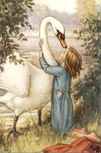 She Threw Her Arms Around His Neck, Cicely Mary Barker