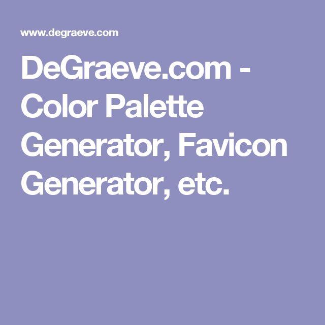 DeGraeve.com - Color Palette Generator, Favicon Generator, etc.