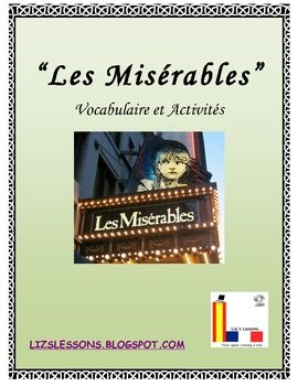 """""""Les Miserables"""" French Vocabulary, Activities, and Film Critique"""