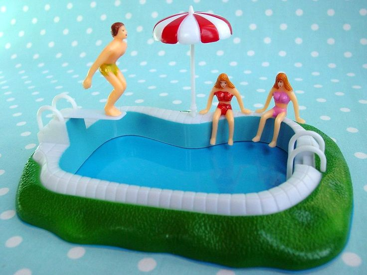 Not A Cake It 39 S A Swimming Pool Cake Topper Inspired By
