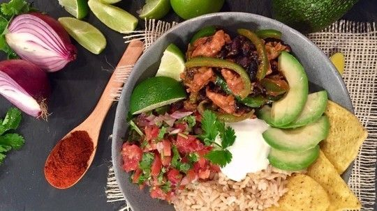 Dean's healthy and balanced Tex Mex taco bowl is quick to put together but doesn't compromise on flavour.