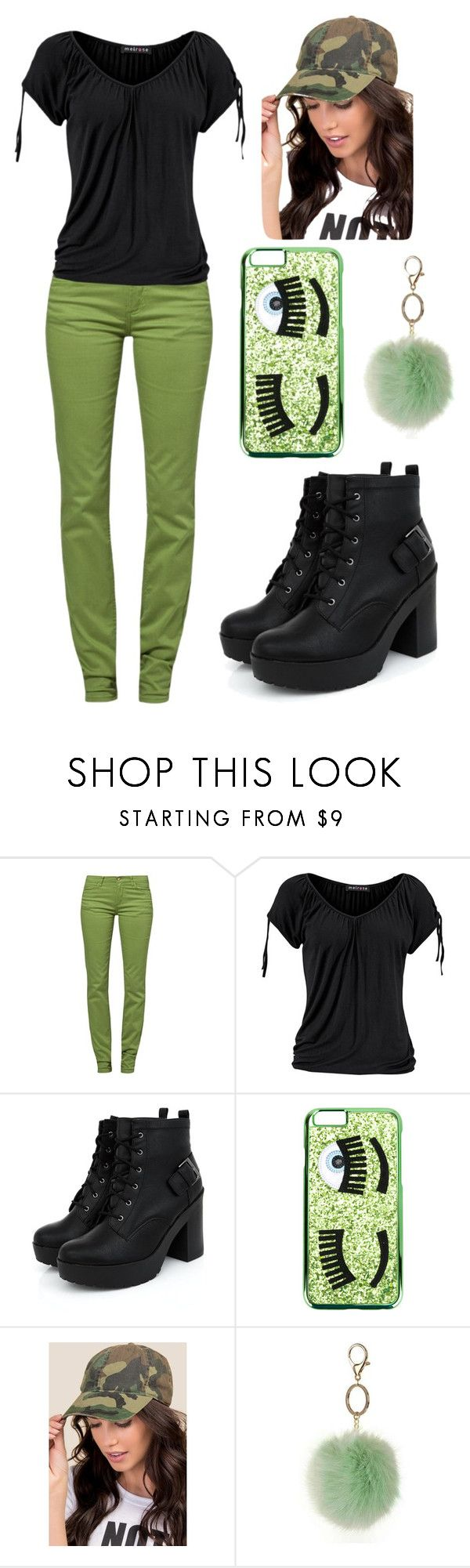 """💚My Style💚"" by officially-mya ❤ liked on Polyvore featuring Monkee Genes, Chiara Ferragni, Francesca's and Dorothy Perkins"