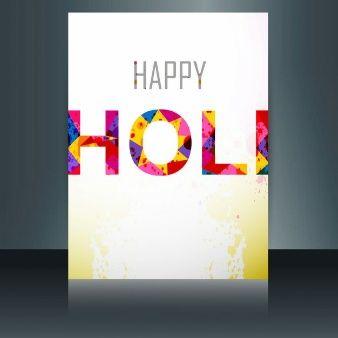 Modern Happy Holi card