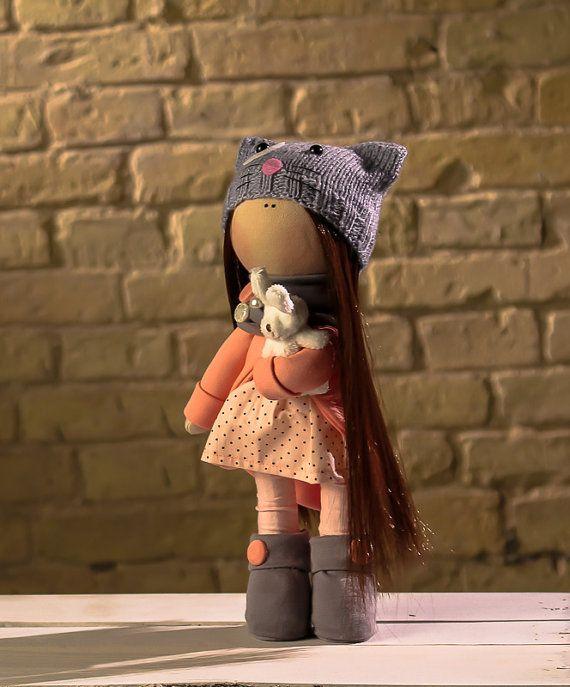 Doll Polly. Tilda doll. Textile doll. Soft toy. Cute от OwlsUa