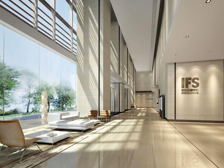 Architecture and interior design commercial office lobby for Office lobby interior design