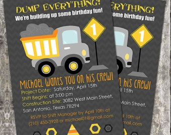 truck themed birthday party google search construction birthday