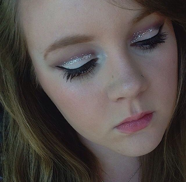 Violet Cut Crease with Glitter by KaylynnS on the #Sephora Beauty Board