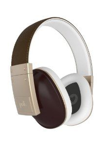 Polk Audio Buckle Headphones - Brown/Gold - with 3 button control and microphone $249.00