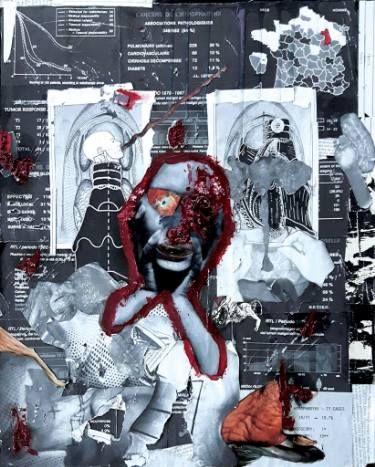 "Saatchi Art Artist Nicola Vinciguerra; Collage, ""King of France"" #art"