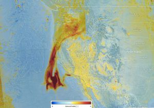 Tracking Aerosols from California's Fires « Earth Imaging Journal: Remote Sensing, Satellite Images, Satellite Imagery