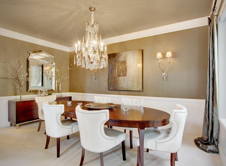 Crystal Chandelier Soft Dining Room With A Beautiful That Gives It Glamorous Touch