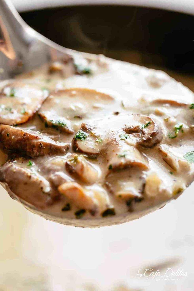 Cream of Mushroom Soup - Cafe Delites | Soup recipes ...