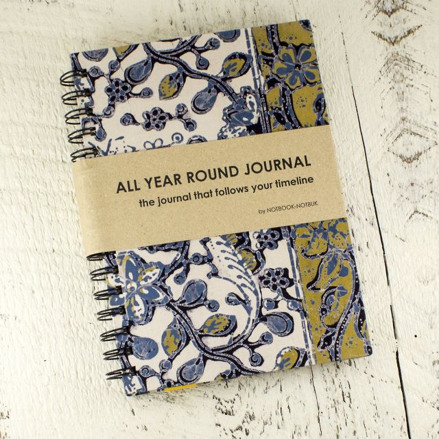 Stay organized all year long with a one of a kind batik planner! This journal contains 12 monthly calendars, 24 to do lists, 60 weekly calendars, 30 lined sheets, and one beautiful fabric bookmark! Handmade by artisans in Malaysia! #Planner #journal #stationary #candorra https://www.candorra.com/store/p40/Blue_and_Yellow_Batik_Yearly_Journal.html