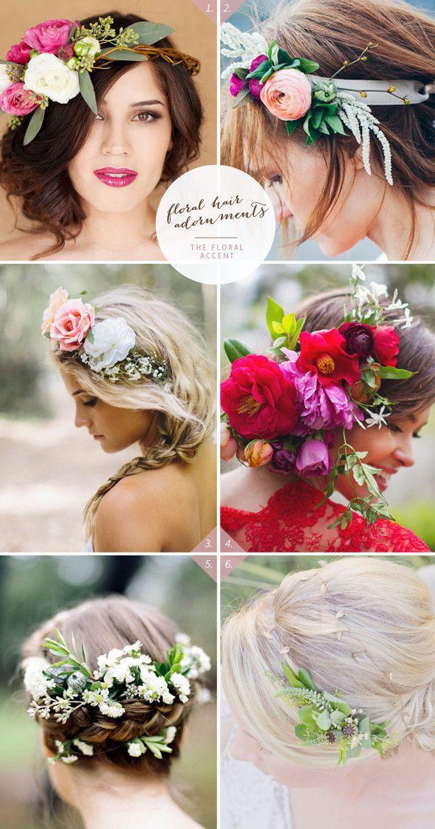 46 Romantic Wedding Hairstyles with Flower Crown DIY Tutorials | www.deerpearlflow...