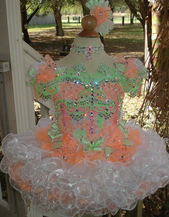 National Glitz Pageant Dress Custom Order by by NanaMarieDesigns, $975.00