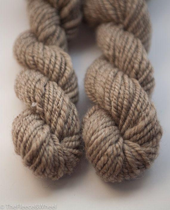Hand Spun Yarn / Hand Spun Polwarth / Knitting Yarn / Undyed /