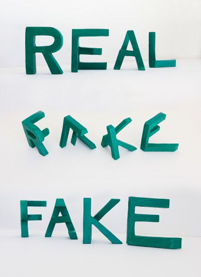 »real/fake« by lex wilson