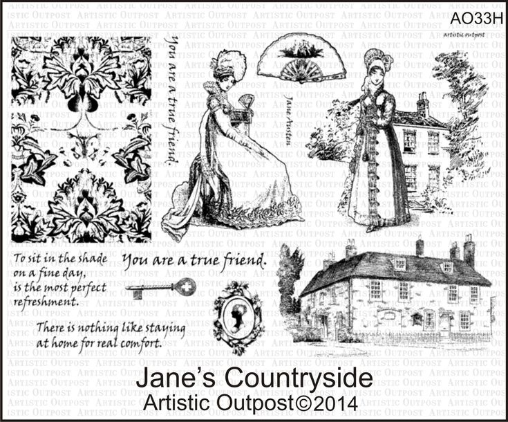 Stamps - Artistic Outpost Jane's Countryside
