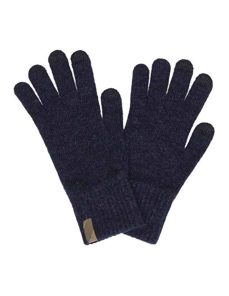 Dunbar Glove in Naval Blue by Barbour