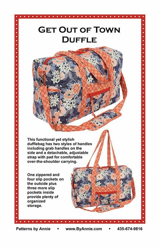 Get Out Of Town Duffle  Buy this pattern now to make this duffle bag! Buying a duffle bag for your kids or grandkids are so expensive now! With this pattern you can make the duffle bag in any colors you want!   Buy this pattern at online for $9.95